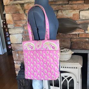 Vera Bradley pink paisley tote & matching wallet
